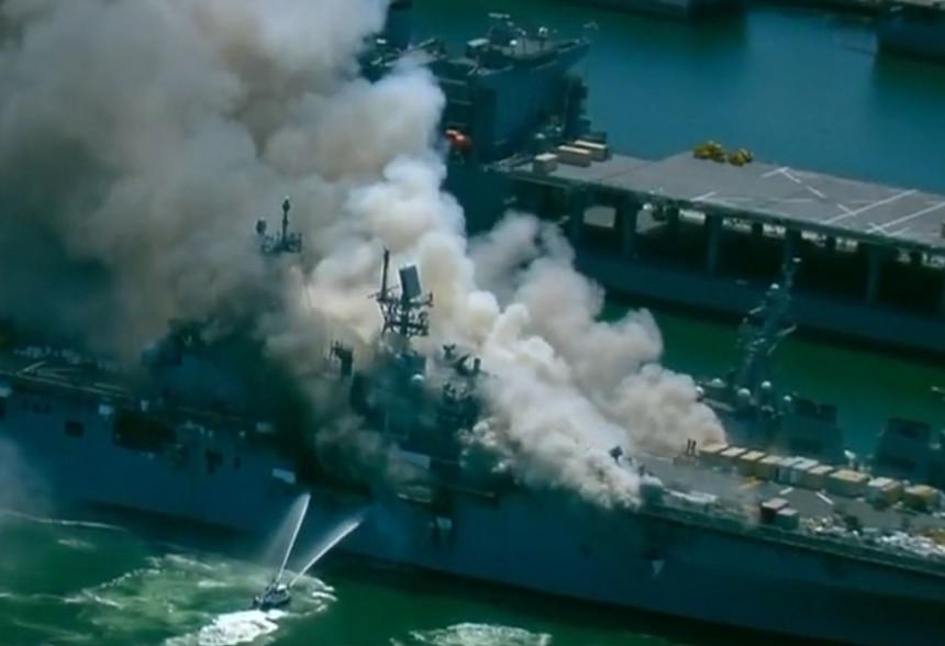 Požar u američkoj bazi: Povrijeđeno više mornara