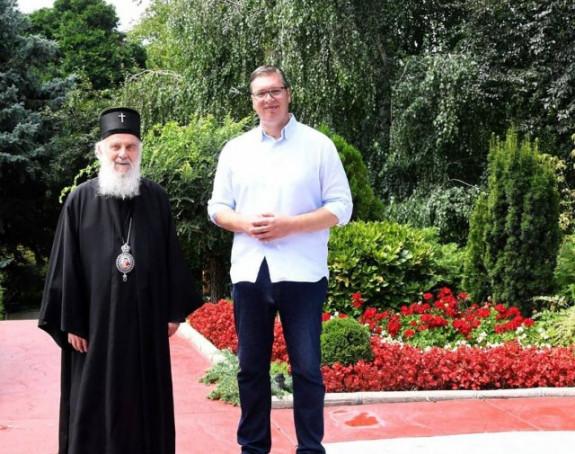 Vučić i Irinej razgovarali o svim važnim temama