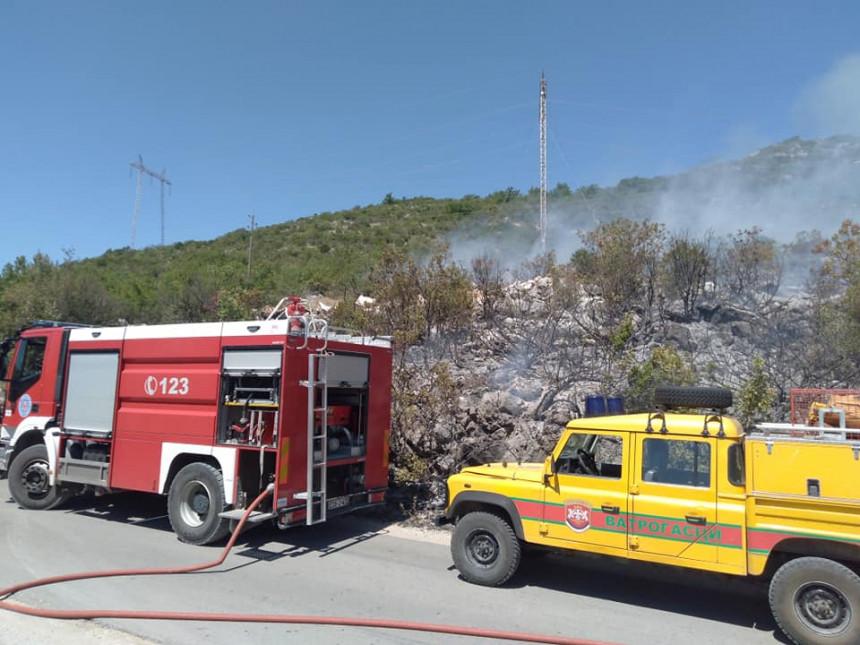 Požar kod Trebinja: Pukao dalekovod i zapalio se