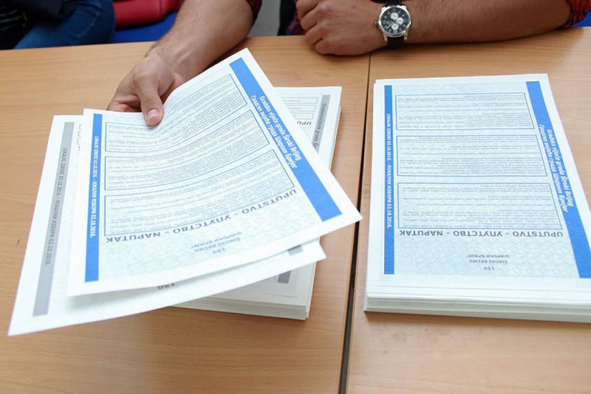 Више од 800.000 КМ за штампање гласачких листића