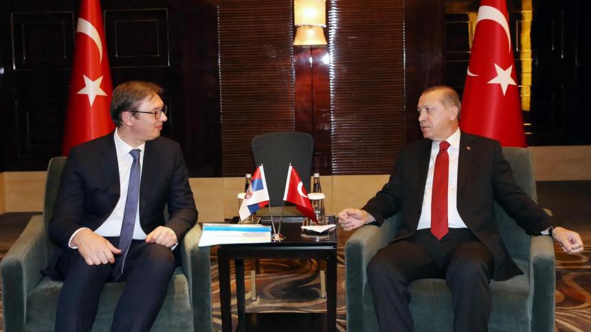 Предсједници Србије и Турске тет-а-тет у Истанбулу