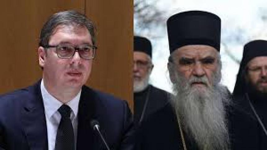 Izgladili odnose: Vučić razgovarao sa Amfilohijem