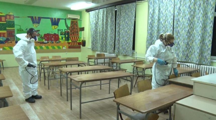 Dezinfekcija škola nakon izbora, nastava na daljinu