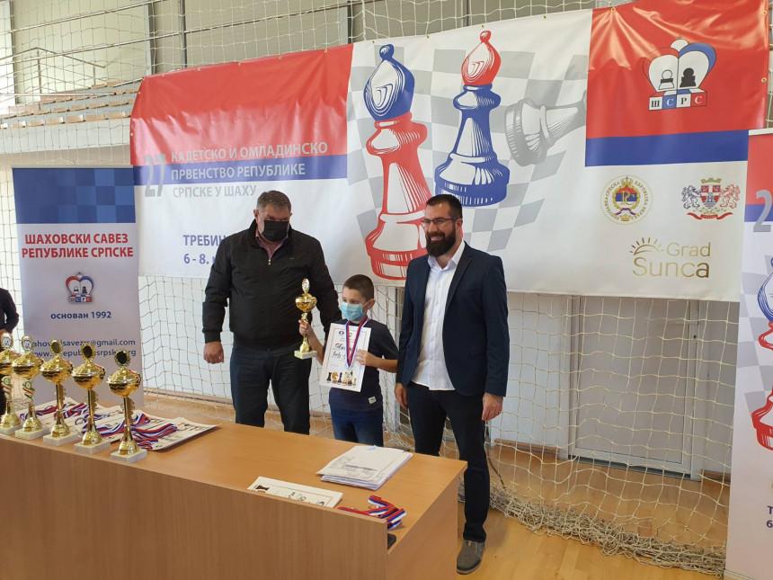Šahista Đorđe Lukić (9) novi šampion Srpske
