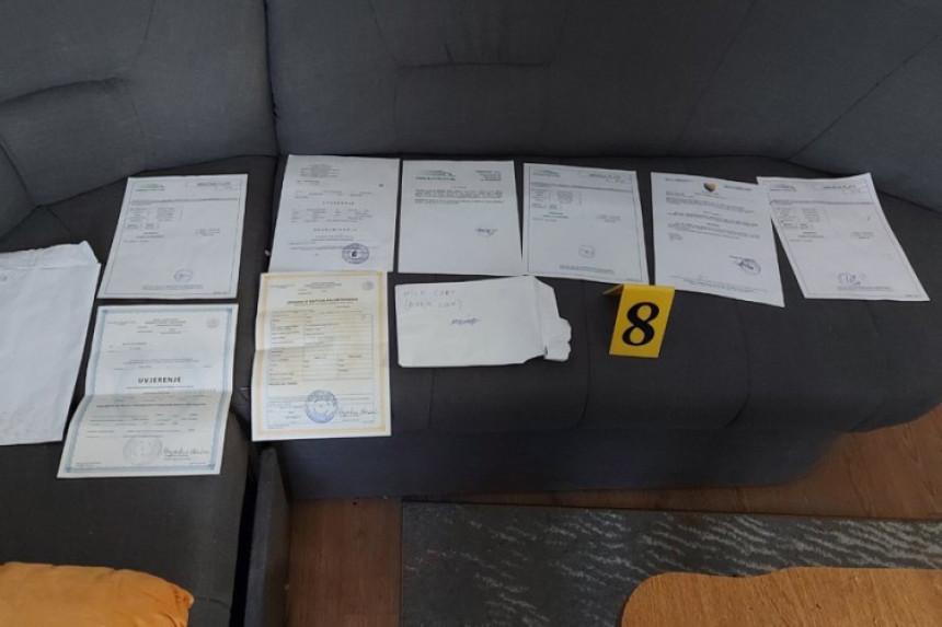 Pronađena oprema za falsifikovanje novca i dokumenata
