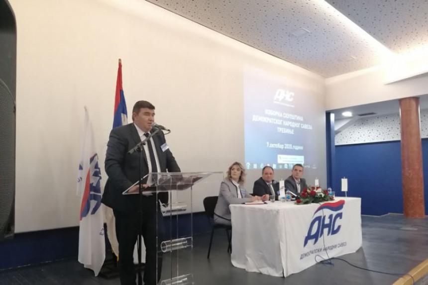 Isključen Vlatković, raspušten Gradski odbor DNS Trebinje