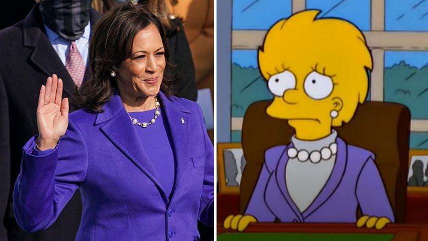 """Fanovi ponovo veruju u """"moć Simpsonovih"""": Kamala obučena slično kao i Lisa!"""
