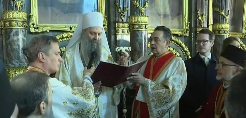 Novi poglavar SPC: Ustoličen patrijarh srpski Porfirije