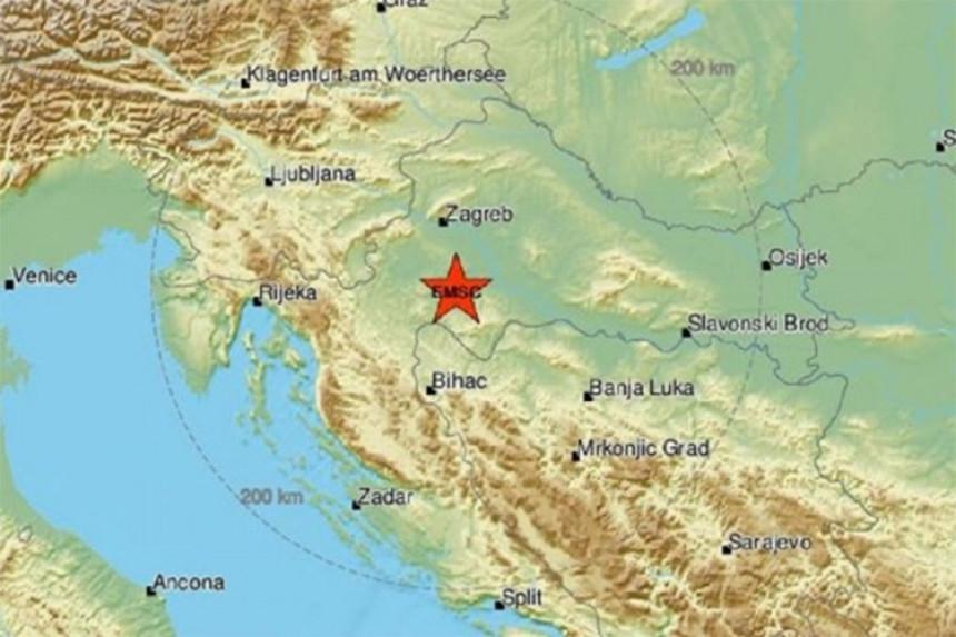 Hrvatska: Prilično jak zemljotres pogodio Baniju