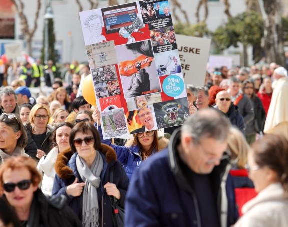 Protesti u pet hrvatskih gradova zbog mjera