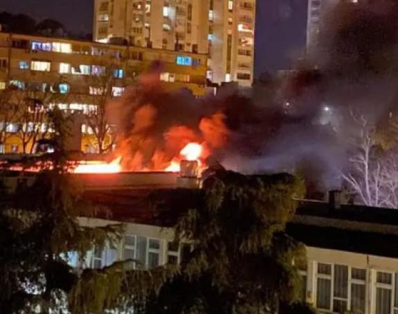 Veliki požar u Puli, vatra guta osnovnu školu