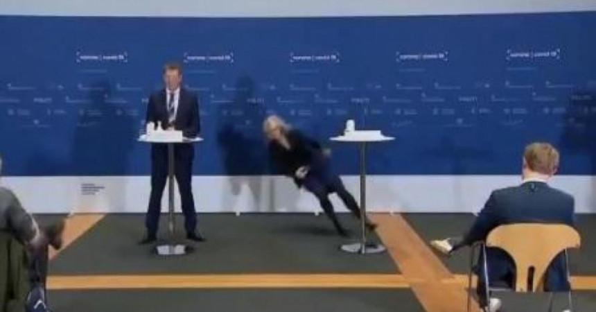 Šefica danske Agencije srušila se na presu (VIDEO)