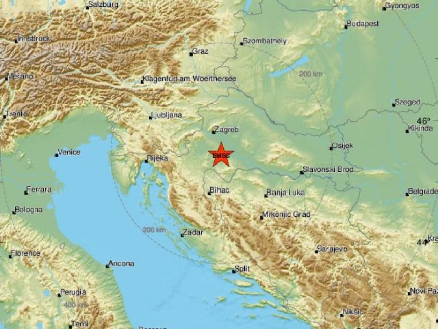 Slabiji zemljotres kod Siska