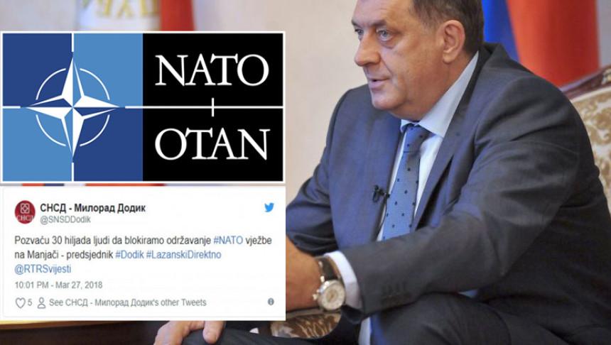 Hoćete li u nedjelju na Manjaču dovesti 30.000 ljudi da blokirate NATO vježbu?