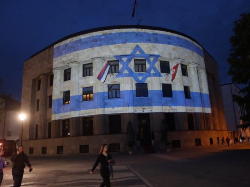 Palata Republike Srpske u bojama zastave Izraela
