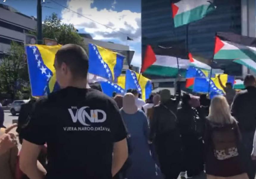 Подршка Палестини: Протестна шетња у Сарајеву