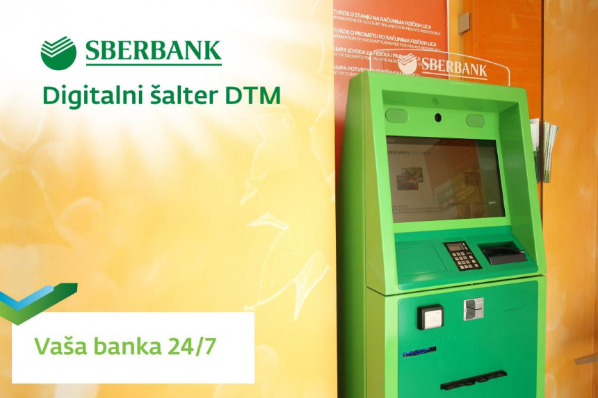 Digitalni šalter u Samouslužnim zonama Sberbank BL