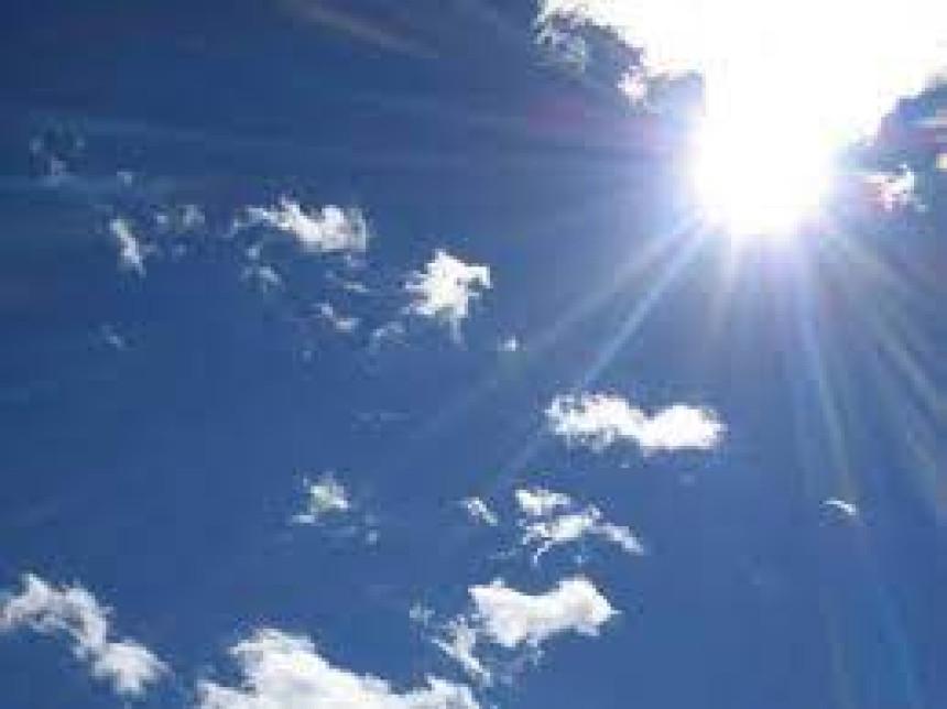 Danas sunčano vrijeme, popodne moguća kiša