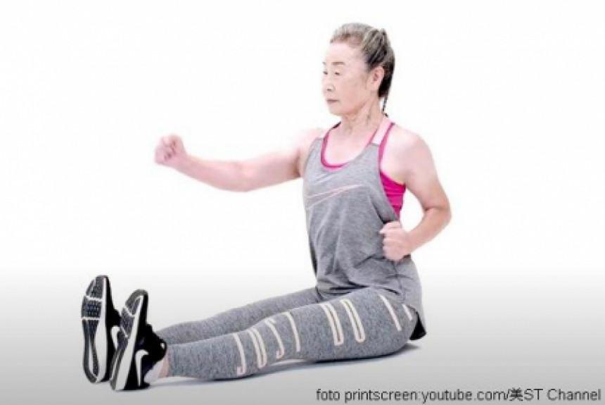 Takishima Mika je najstarija instruktorka fitnesa u Japanu!