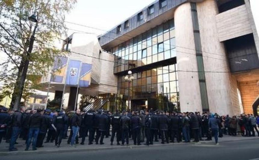 Protest policajca u Federaciji BiH