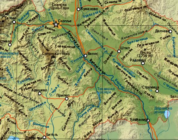 Dioba Makedonije na četiri dijela