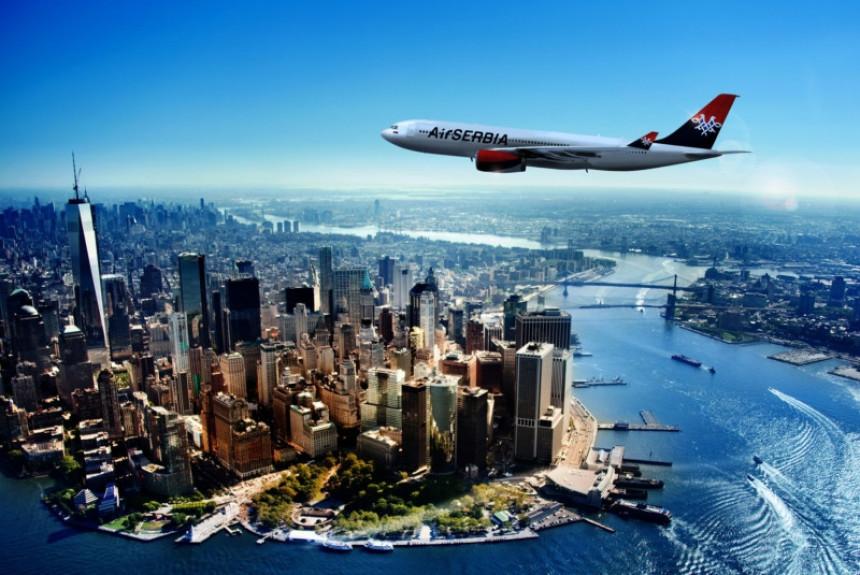 """""""Air Serbia"""" sutra prvi put leti za Njujork"""