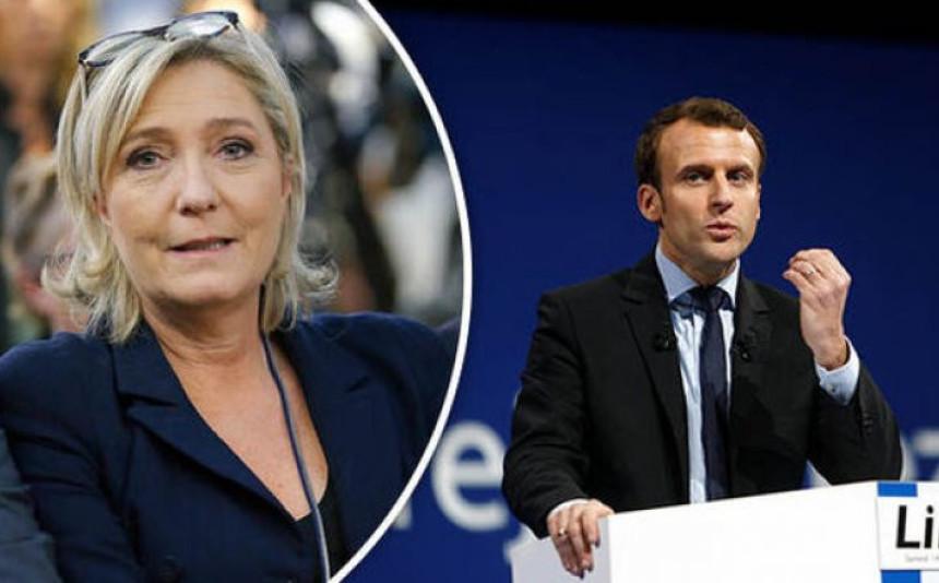 Makron i Le Pen vode u Francuskoj