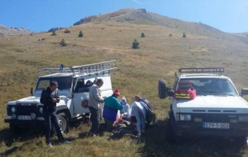 Sarajka Alija Tabak spašena na planini kod Nevesinja