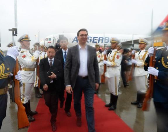 Вучић стигао у посјету Кини