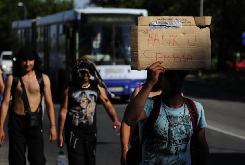 """""""Ne ostavljajte izbjeglice u Srbiji"""""""