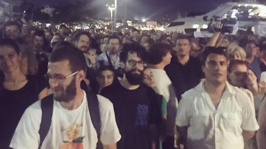 Протест у Сплиту против политичара