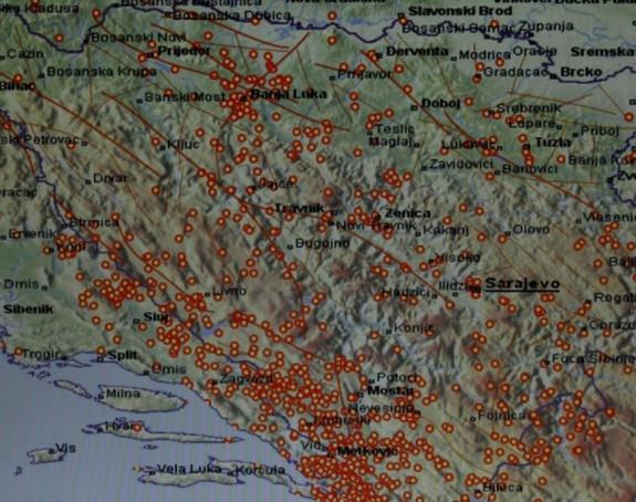 Tri zemljotresa u BiH za 12 časova