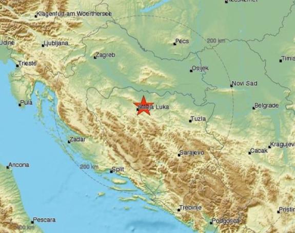 Zemljotres jačine 3,1° kod Banjaluke