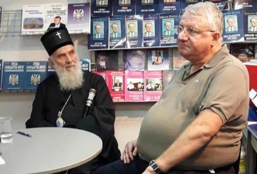 Šešelj i patrijarh Irinej na sajmu knjiga