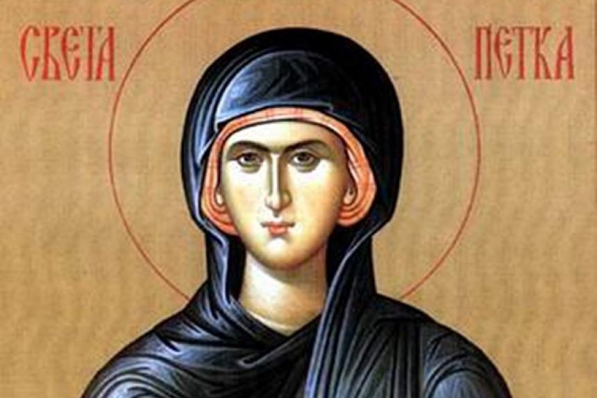 Dan posvećen Svetoj Petki, zaštitnici žena