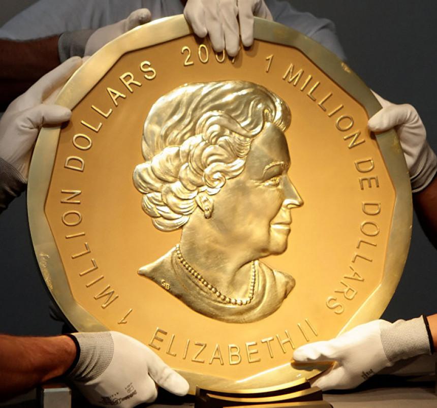 Ukraden zlatnik težak 100 kg