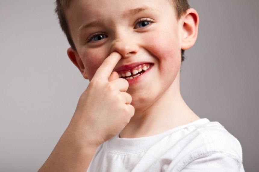 Djecu treba podsticati da čačkaju nos i jedu sluz