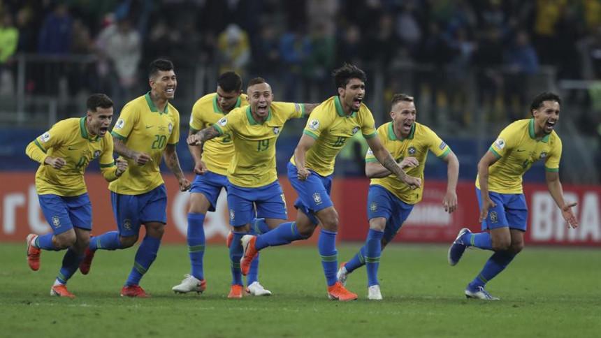 KA: Brazil preko penala do polufinala!